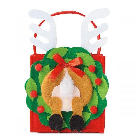 Reindeer Rear Felt Party Treat Bags