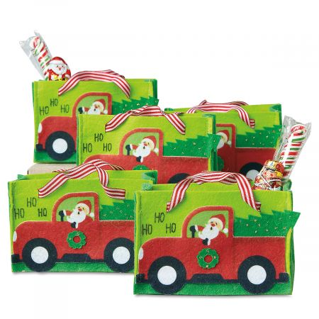 Red Pickup Felt Party Treat Bags