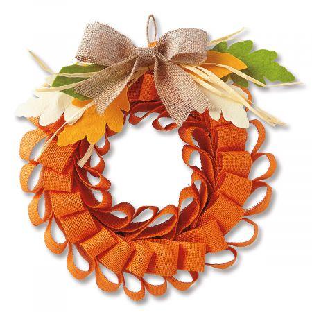 Burlap Mesh Autumn Wreath