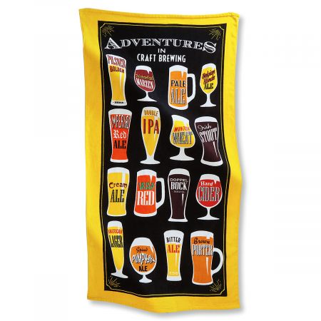 Craft Beer Beach Towel