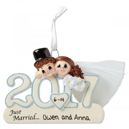 2017 Wedding Christmas Personalized Ornaments