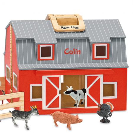 Melissa Doug Fold Go Personalized Barn