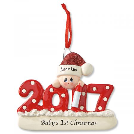 babys first christmas personalized ornaments
