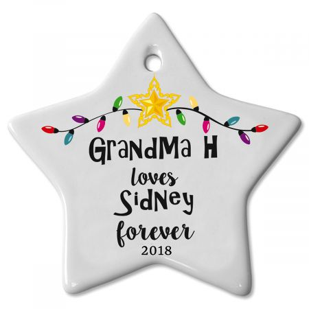 Personalized Love You Forever Ceramic Ornament