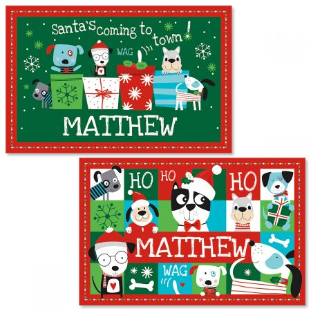 Personalized Christmas Dog Kids' Placemat