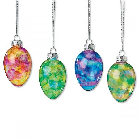 Easter Eggs Glass Ornaments by Lillian Vernon