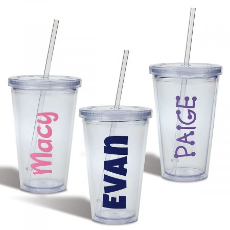 Personalized Acrylic Beverage Cups