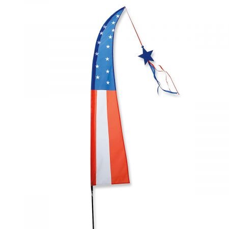 Patriotic Feather Flag