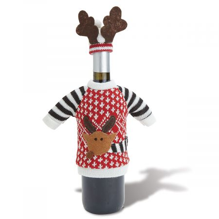 Reindeer Wine Bottle Sweater