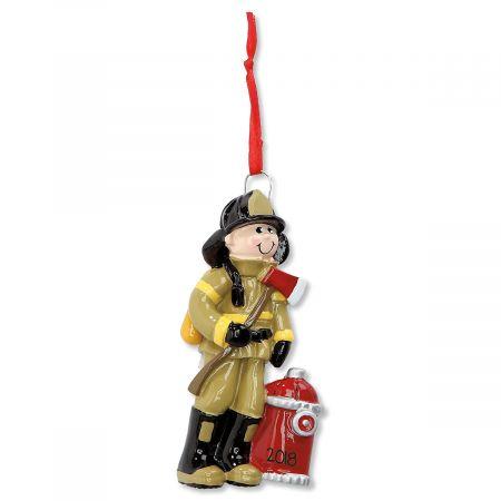 Fireman Personalized Christmas Ornament