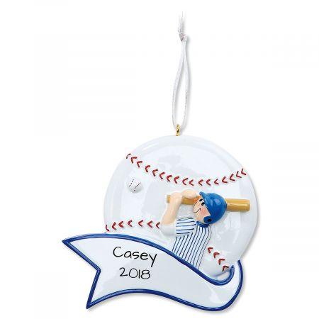 Baseball Boy Personalized Christmas Ornament