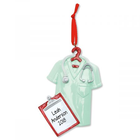 Scrubs Personalized Christmas Ornament