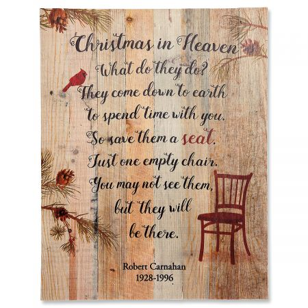 Personalized Christmas in Heaven Plaque