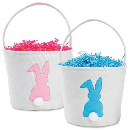 Fabric Bunny Applique Easter Baskets