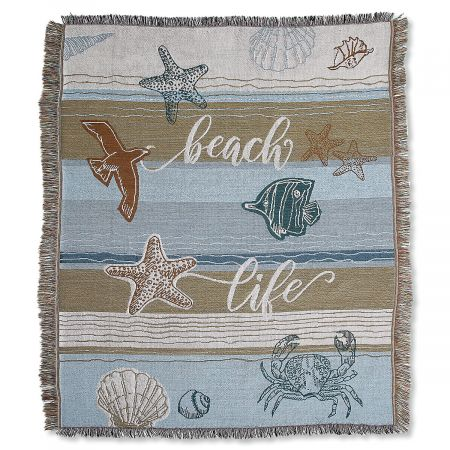 Coastal Woven Throw and Pillow