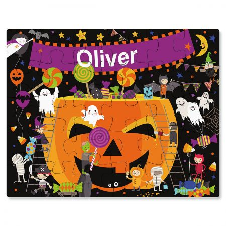 Halloween Dance Party Personalized Puzzle