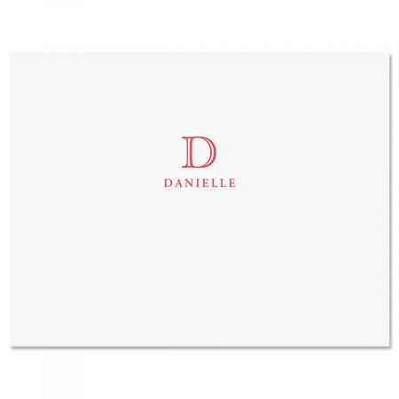 Classic Initial Folded Note Cards