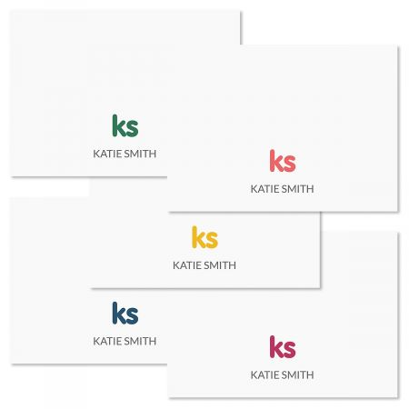 Sweet Monogram Folded Note Cards