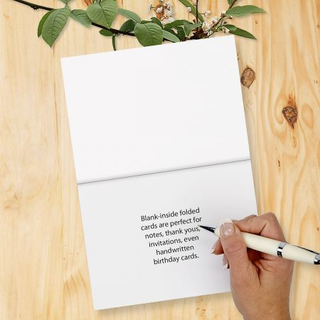 Thin Line Monogram Folded Note Cards