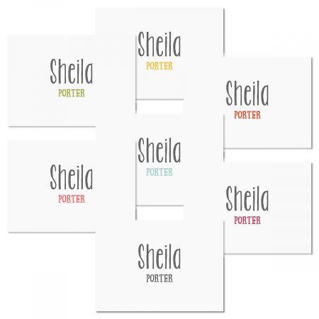 Rustic Script Folded Note Cards