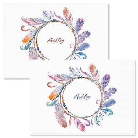 Sacred Watercolor Wreath Folded Note Cards