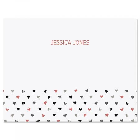Mini Hearts Folded Note Cards