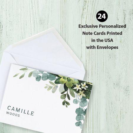 Olive Bloom Folded Note Cards