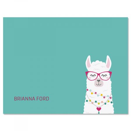 Simple Llama Personalized Note Cards