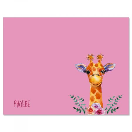 Mini Giraffe Folded Note Cards