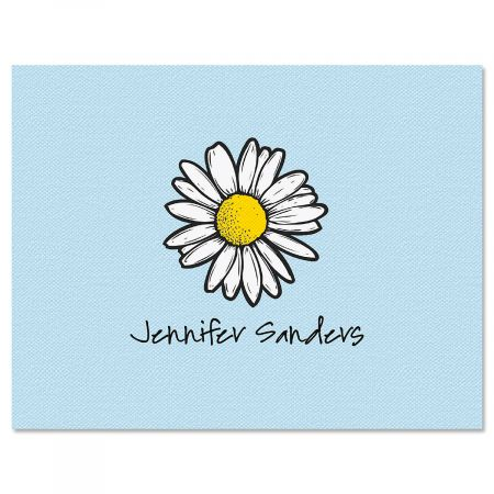 Textile Daisy Folded Note Cards