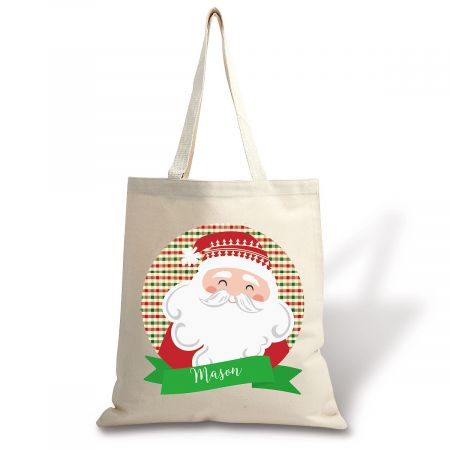 From Santa Personalized Canvas Tote