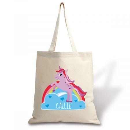 Unicorn Personalized Canvas Tote