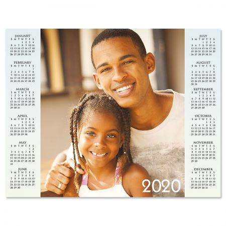 Year at a Glance Personalized Photo Calendar - white text