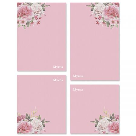 Corner Roses Notepads