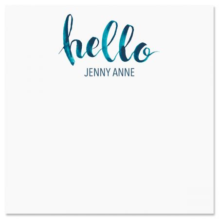 Personalized Hello Note Sheets in a Cube