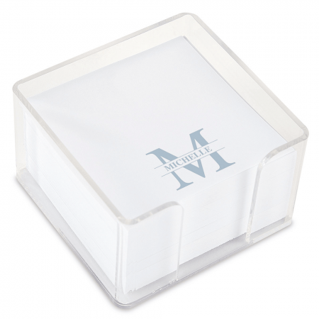Personalized Front & Center Note Sheets in a Cube