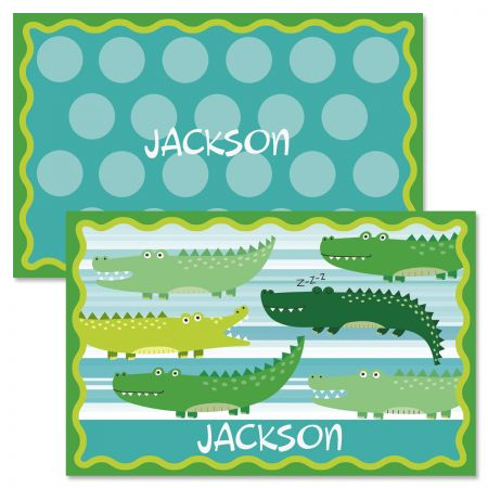 Alligator Personalized Kids' Placemat