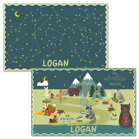 Woodland Personalized Kids' Placemat