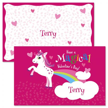 Rainbow Unicorn Personalized Kids' Placemat