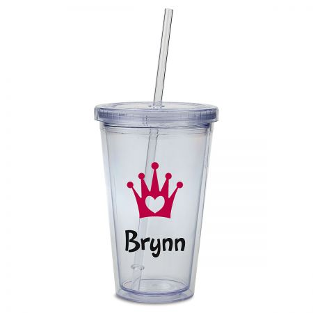 Crown Acrylic Personalized Beverage Cup