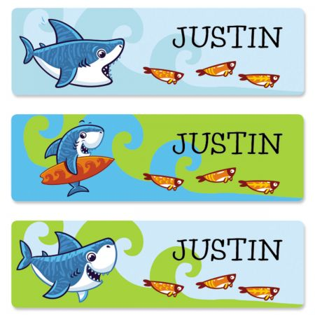 Sharks Name Stickers
