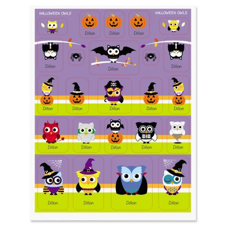 Halloween Owls Stickers