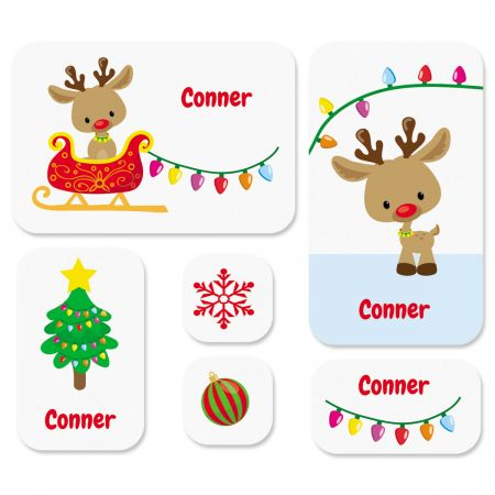 Christmas Rudolph Stickers
