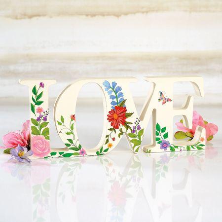 Die-cut Blooming Love Sign