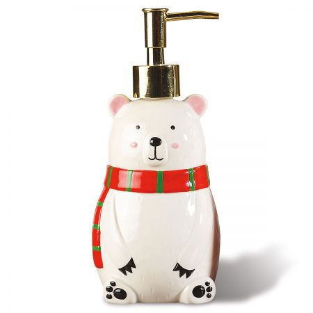 Polar Bear Holiday Soap Dispenser