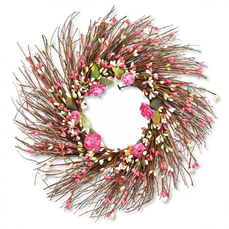 Pink Berry Wreath