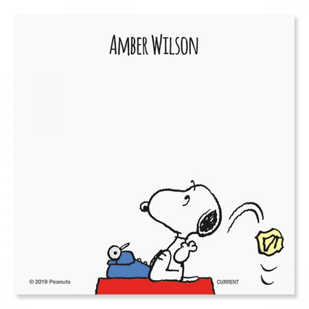 Snoopy's Typewriter Notepad Set