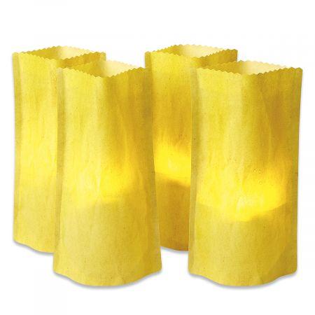 Faux Paper Bag Luminaries
