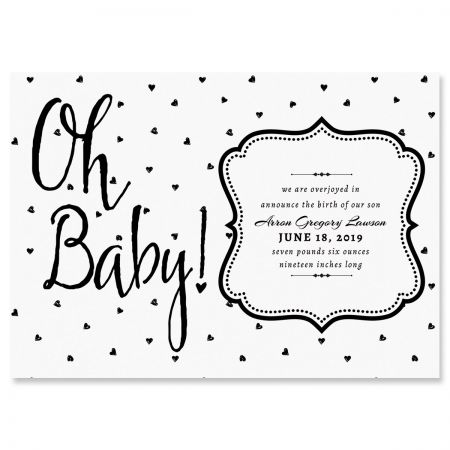 Oh Baby Hearts Personalized Birth Announcements