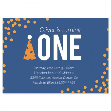 Party Hat Birthday Personalized Invitation